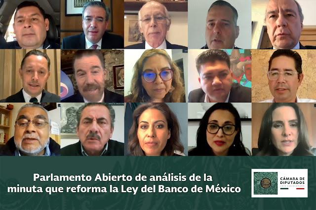 Banqueros participan en el Parlamento Abierto para analizar la minuta sobre Ley del Banxico