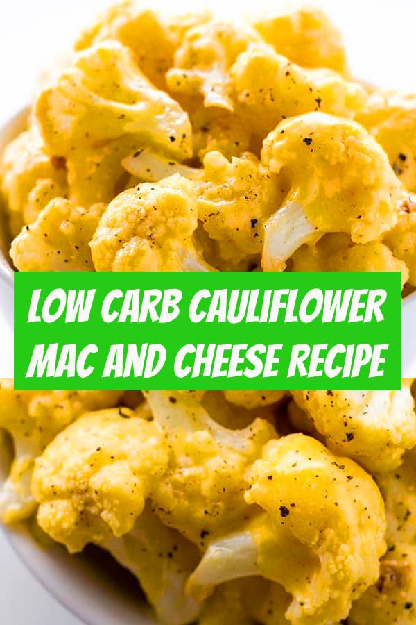Low Carb Cauliflower Mac and Cheese Recipe with Keto Cheese Sauce - This healthy, low carb cauliflower mac and cheese recipe is made with just FIVE INGREDIENTS! Only 5 minutes prep time, too. #keto #lowcarb #dinner #sidedish #ketosidedish #ketomacandcheese #easyrecipe #healthyrecipe