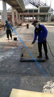waterproofing membrane bakar untuk dak atap beton