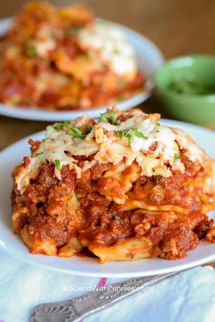 Lazy Crock Pot Lasagna  #lasagna #dinner