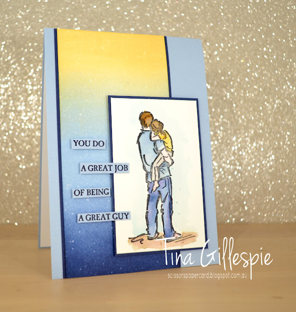 scissorspapercard, Stampin' Up!, Art With Heart, Colour Creations, A Good Man, Sponge Brayer, Subtle TIEF, Watercolouring, Masculine Card