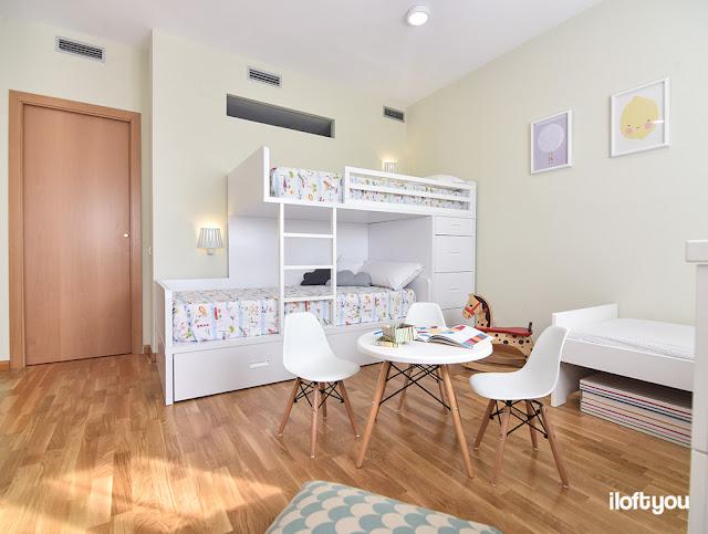 Habitación para tres niños