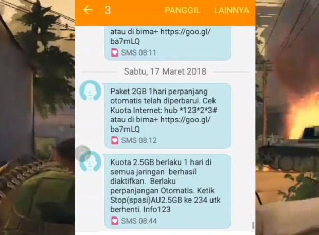 Daftar Paket Internet Tri 2.5GB Rp 2.000 Terbaru 2019 iv