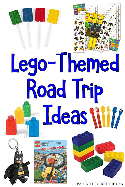 Lego Road Trip Ideas // Party Through the USA // travel with kids // road trips // themed road trips // lego fun
