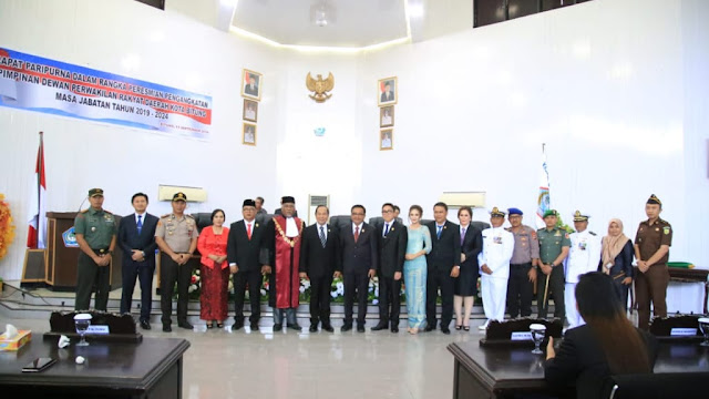 Pimpinan DPRD Kota Bitung  Masa Jabatan 2019 - 2024  Resmi di Lantik