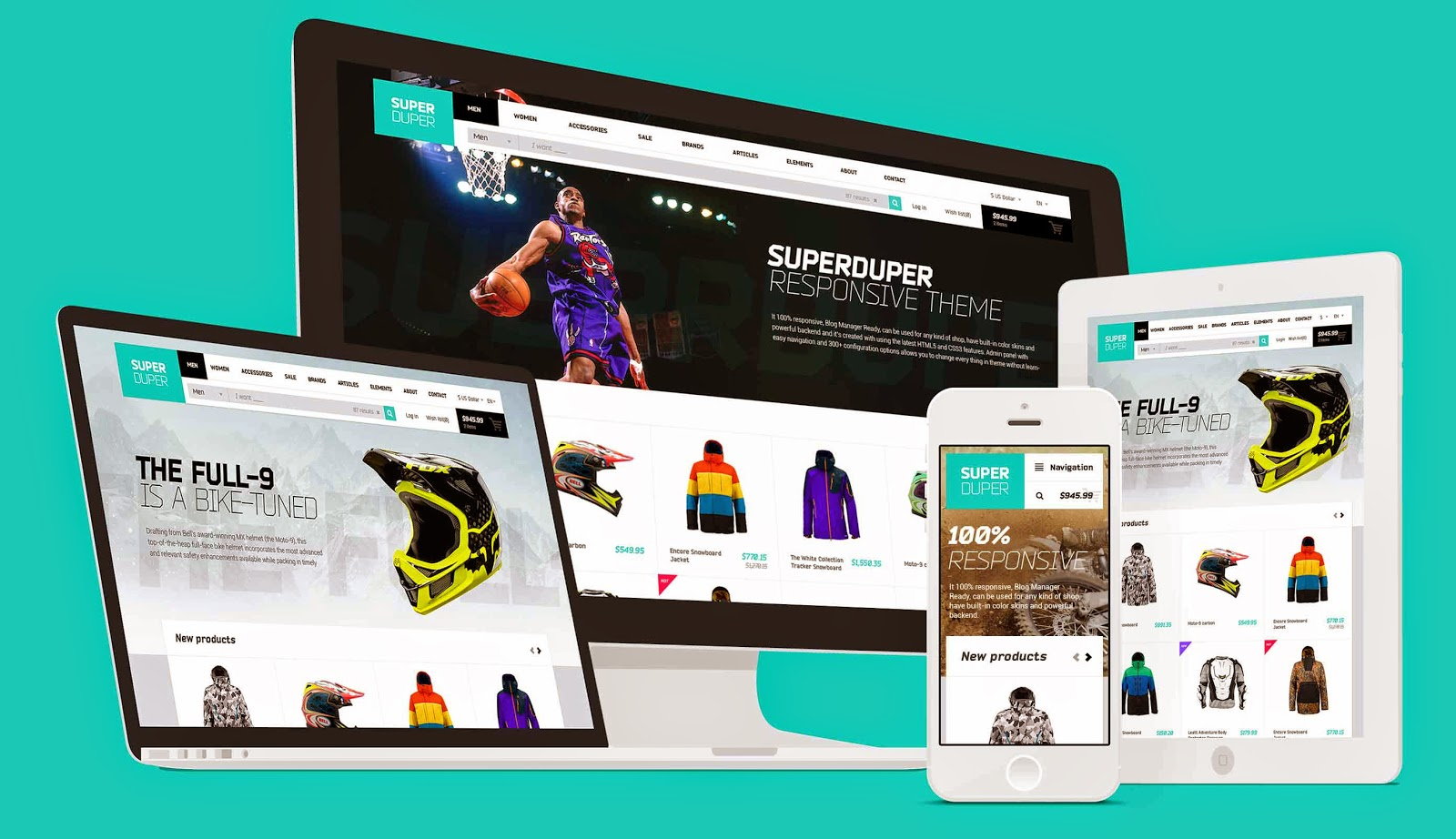 Super Duper Ecommerce Website Template
