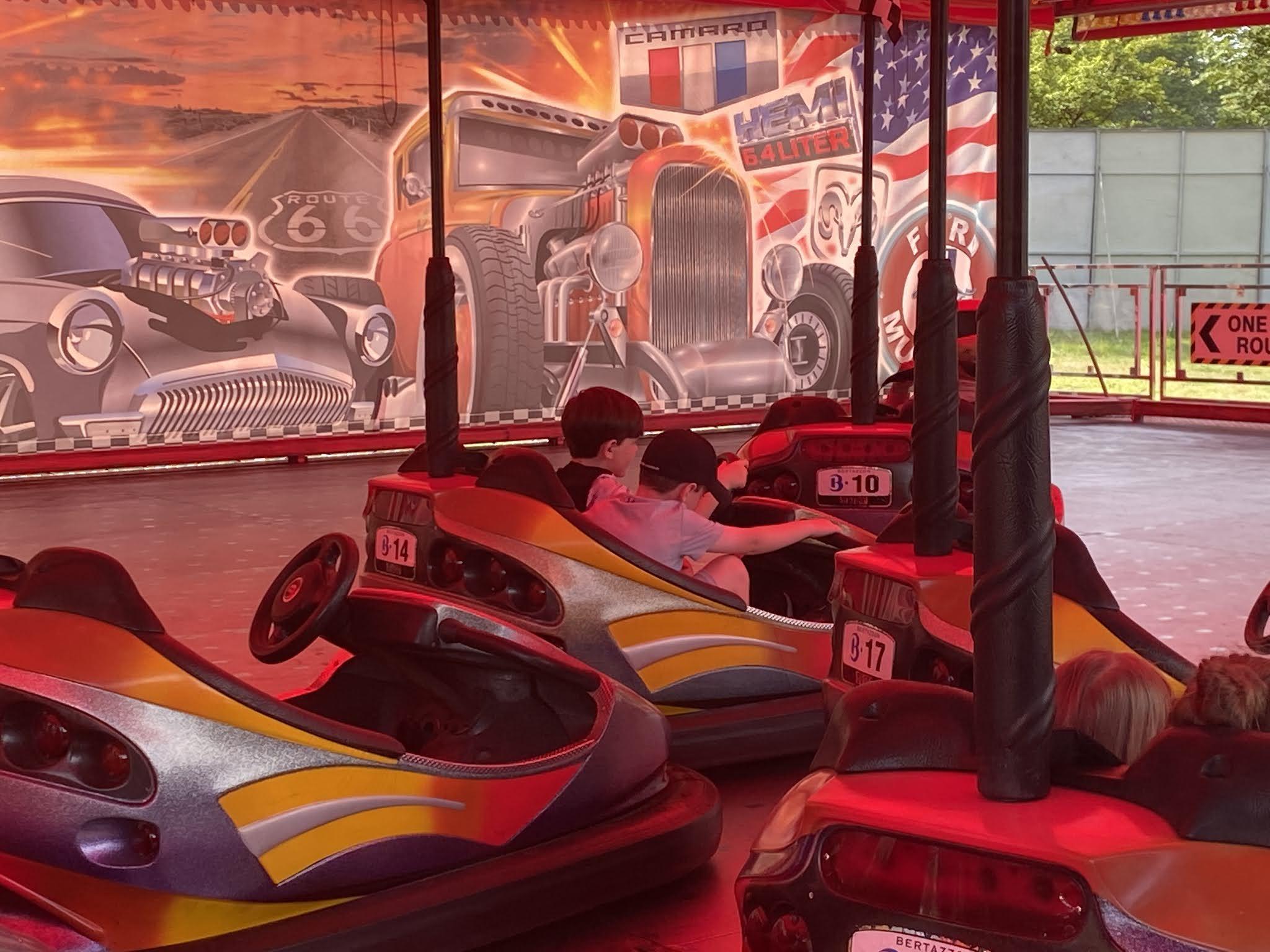 fairground rides at Dino Kingdom