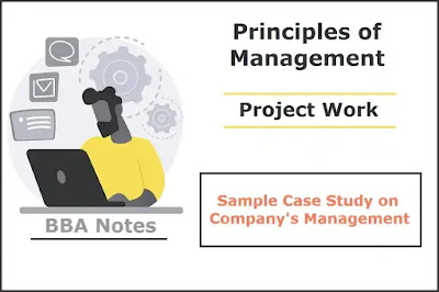 Sample Case Study on Company's Management │ Project Work