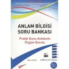 Doğruışık Anlam Bilgisi Soru Bankası YGS LYS KPSS DGS ALES Adem Çevik