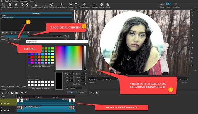 video circolare trasparente