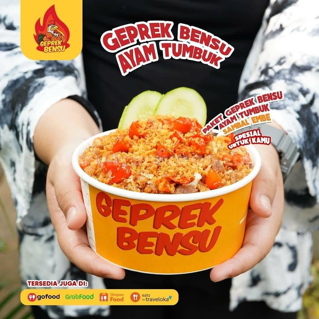 Promo GEPREK BENSU - Beli Paket Ayam Tumbuk Gratis Menu Garpu 2