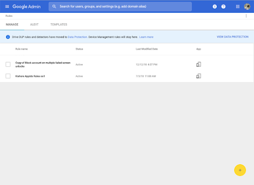 Migration of Google Drive DLP rules to new system 2