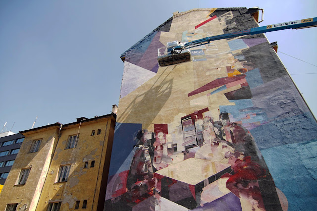 Robert Tone Proch and Chazme MURAL IN Kosice , Slovakia - Progress