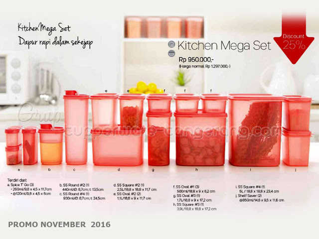 Kitchen Mega Set Promo Tupperware November 2016