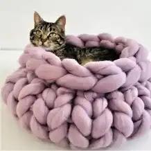 Cama para Gato a Crochet