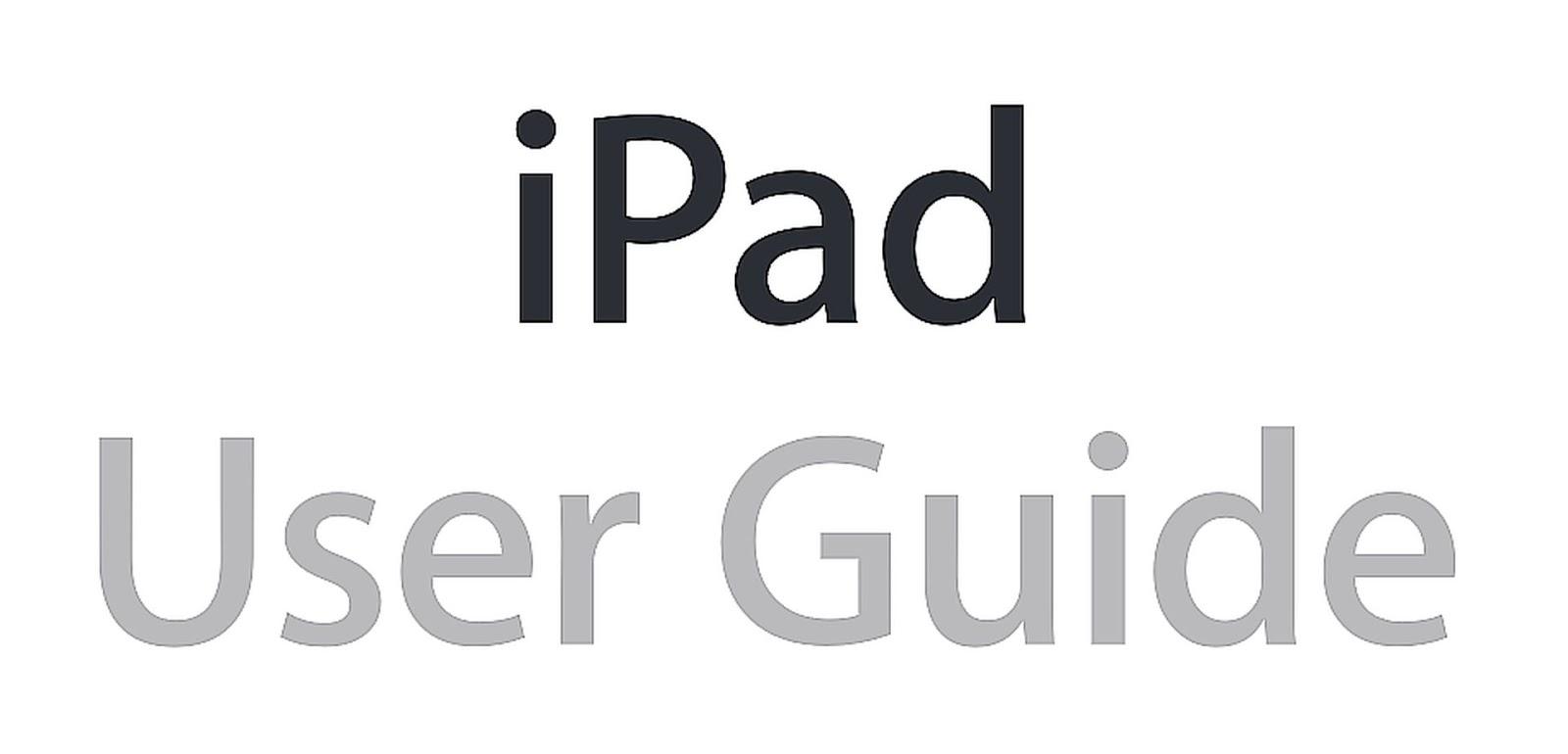 Apple iPad User Manual