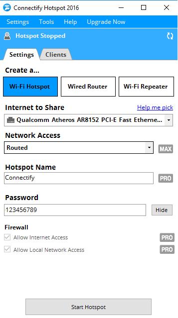 Tải Connectify Hotspot 2019