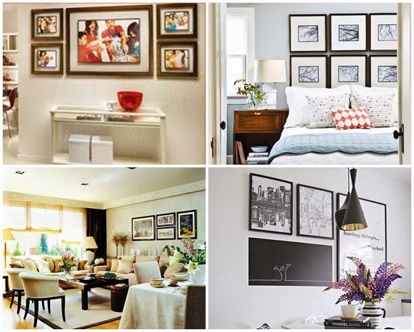 I d e a como colocar un conjunto de cuadros - Que cuadros poner en el dormitorio ...