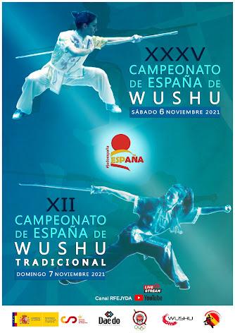 CAMPEONATO WUSHU ESPAÑA (6, 7-11-2021)