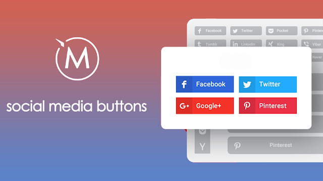 HTML Code for Social Media Buttons to Website and Blogger