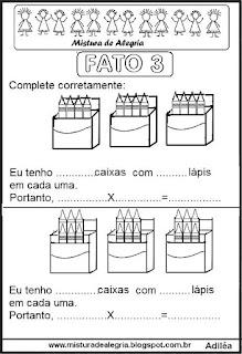 Tabuada de multiplicação do 3 ilustrada
