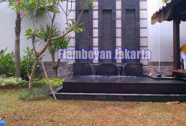 Jasa Tukang Taman Jakarta Timur Koleksi Foto Desain Waterwall Air mancur batu alam