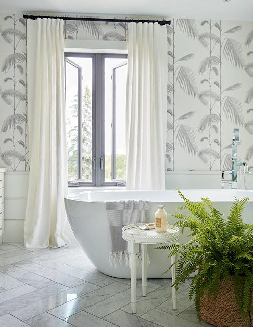 posso colocar papel de parede no banheiro