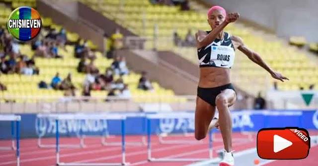 GRACIAS A CHÁVEZ? |  Yulimar Rojas saltó hasta los 14,77 metros