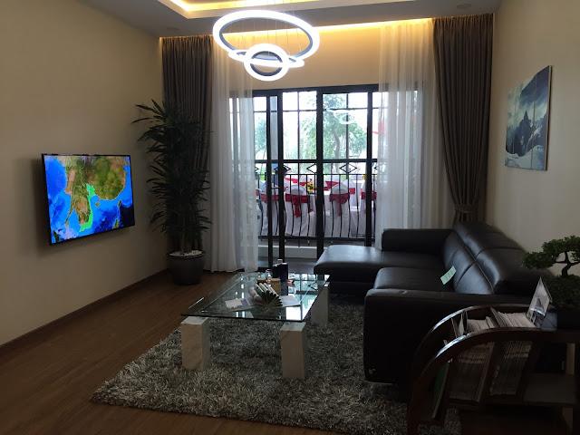 Thiết kế phòng khách căn hộ số 3 chung cư Eco Lake View