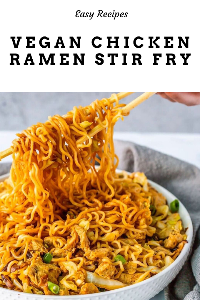 Vegan Chick'n Ramen Stir Fry