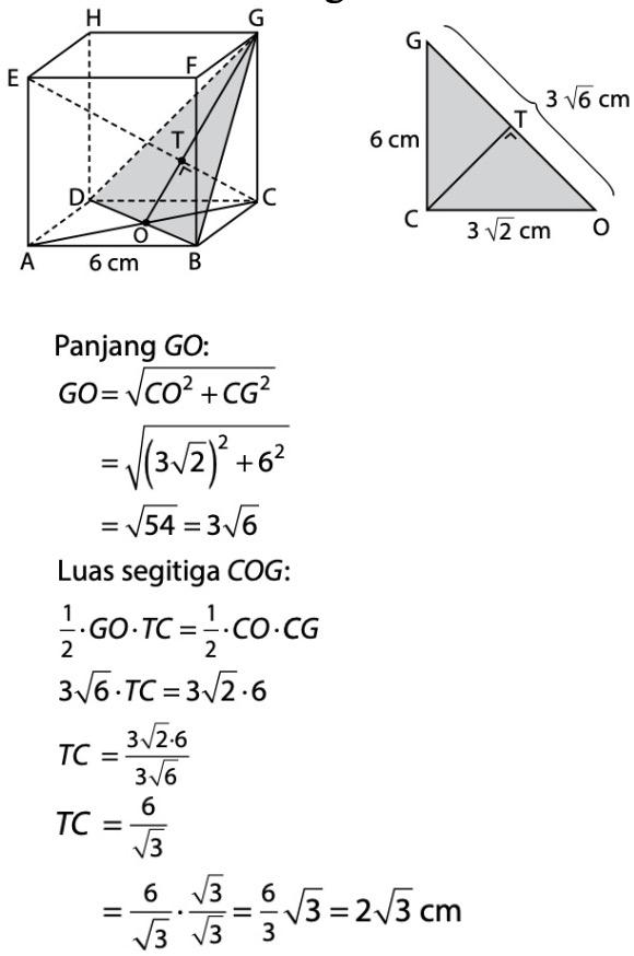 Jarak Titik Ke Bidang : jarak, titik, bidang, Diketahui, Kubus, ABCD.EFGH, Dengan, Rusuk, Jarak, Titik, Terhadap, Bidang, Adalah, Dayat
