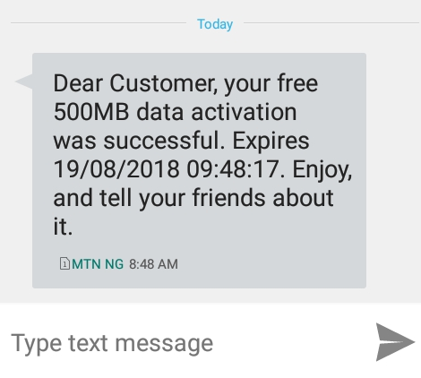 How To Get Free 500MB On MTN Using The MyMTN App