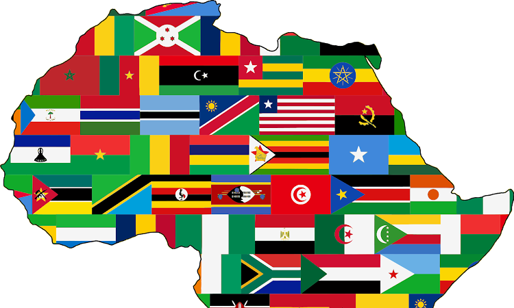 Flag Map of Africa