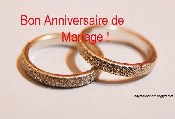 message Voeux d'anniversaire de mariage
