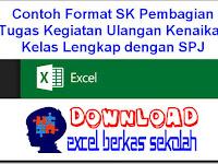 Contoh Format SK Pembagian Tugas Kegiatan Ulangan Kenaikan Kelas Lengkap dengan SPJ