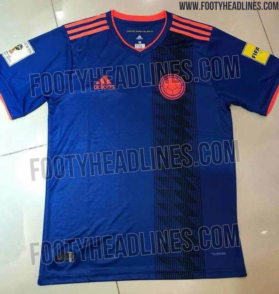 Colombia 2018 World Cup Away Kit Leaked - Footy Headlines e19c07c2c