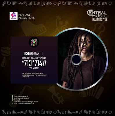Dedebah Grabs Three (3) Nominations At Central Music Awards 2019 (Please Vote)