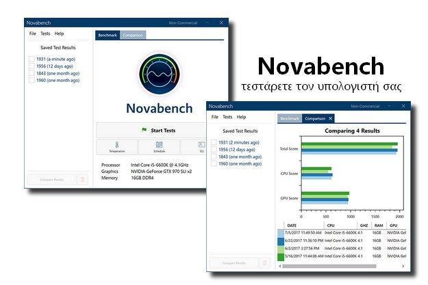 Novabench - Ήρθε η ώρα να δοκιμάσετε τον υπολογιστή σας