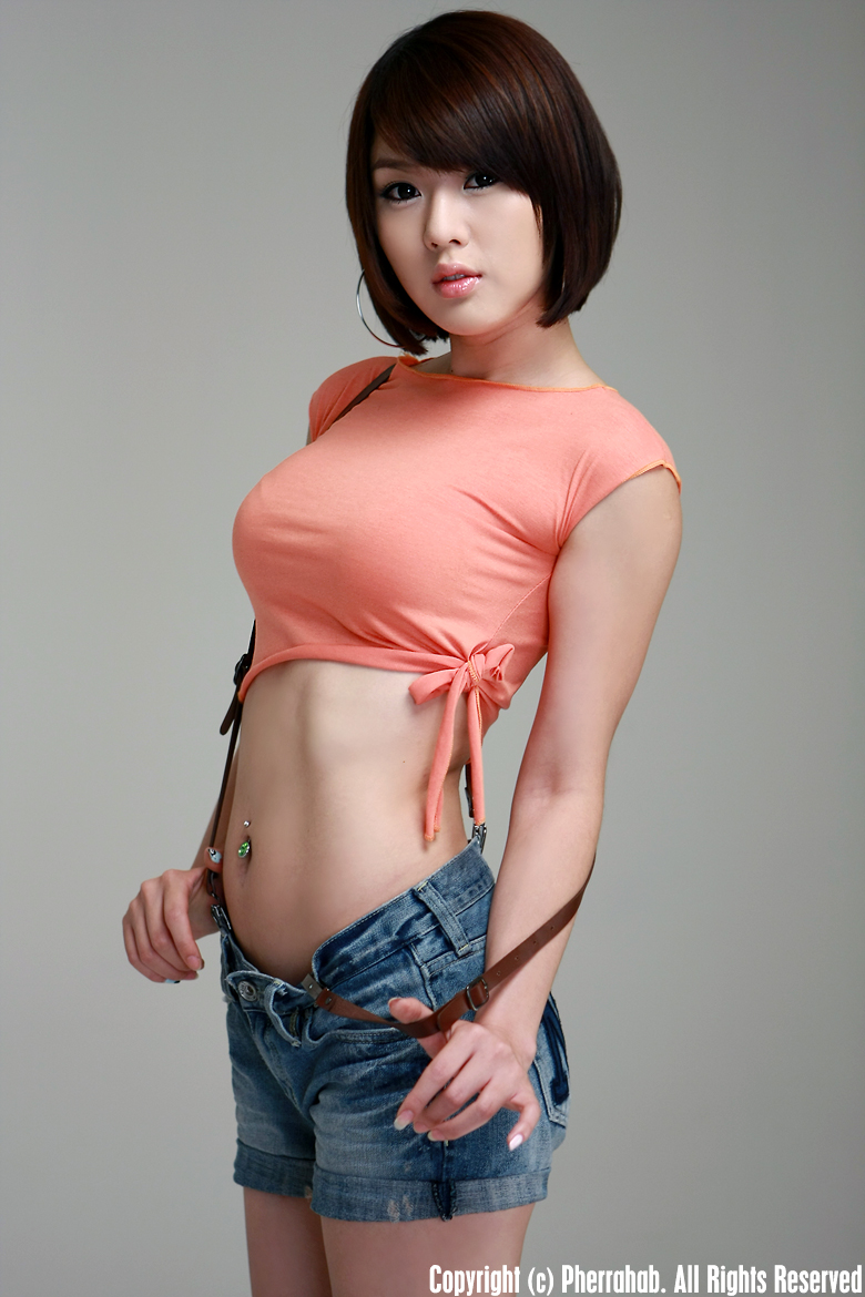 hwang mi hee sexy orange dress pics 02
