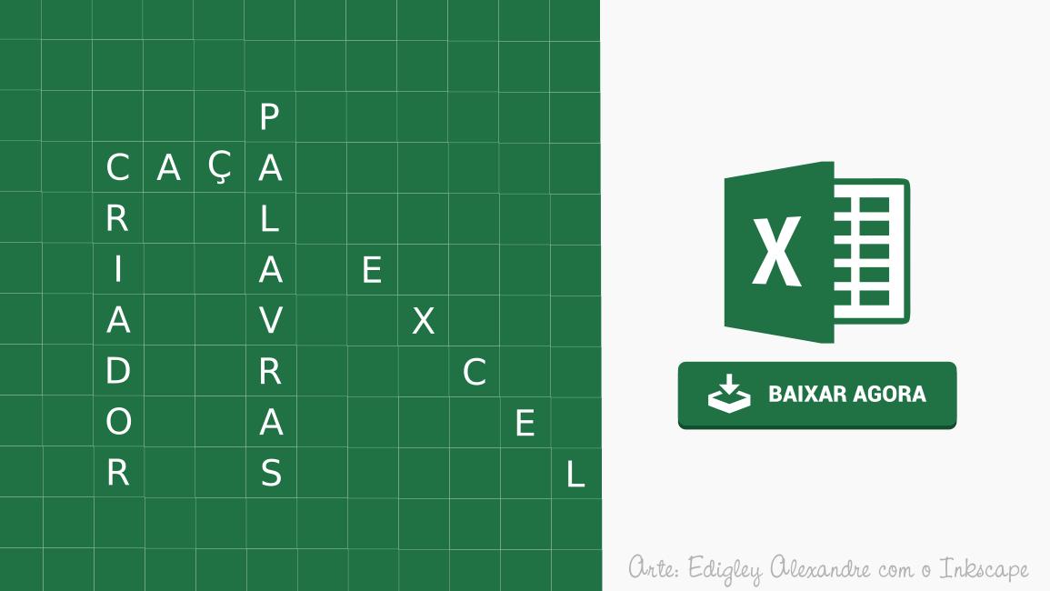 Criador de caça-palavras para Microsoft Excel