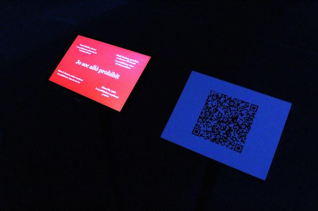 """Imatge de l'obra interactiva """"Jo soc allò prohibit"""", que forma part de l'exposició """"Trilogia de la realitat oculta"""" d'Isaki Lacuesta."""