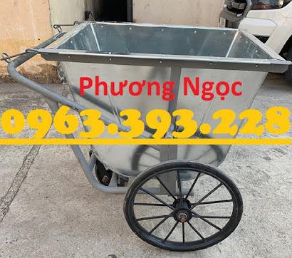 Xe gom rác bằng tôn 3 bánh, xe rác tôn 400 Lít, xe thu gom rác tôn, xe đẩy rác XRT400L1