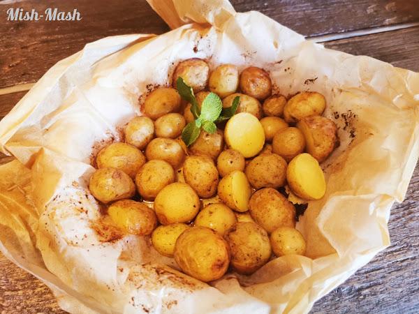 Пресни картофи в пергамент