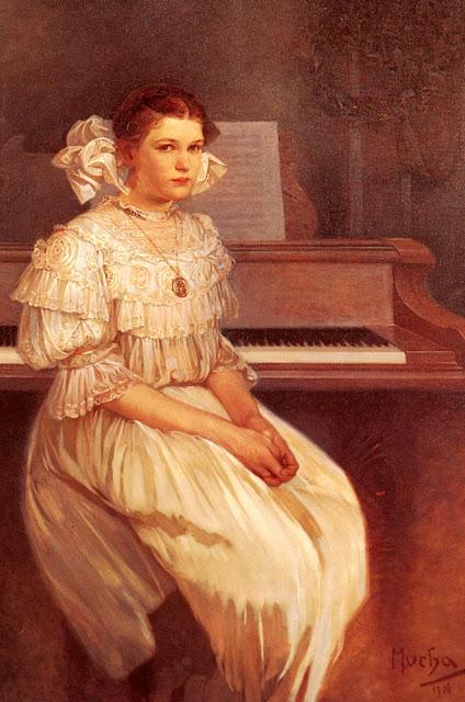 Альфонс Муха - Портрет Милады Герни. 1916
