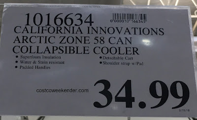 Deal for the Arctic Zone Ultra Collapsible Rolling Cooler at Costco