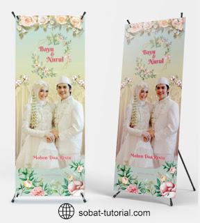 Download X Banner Wedding Format CorelDraw