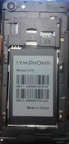 Symphony V75 Flash File All Version  Without Password MTK