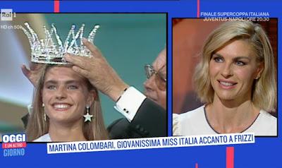 Martina Colombari foto premiazione Miss Italia 1991