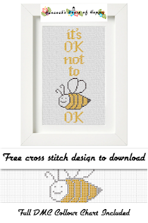 Creature Comforts! It's OK Not To Be OK Cross Stitch Pattern, Free Bee Cross Stitch Design, Free mental health Cross Stitch to Download, bee cross stitch, mental health cross stitch, cross stitch for beginners, kawaii bee, kawaii bee cross stitch, cute bee bookmark stitch pattern, cross stitch funny, subversive cross stitch, cross stitch home, cross stitch design, diy cross stitch, adult cross stitch, cross stitch patterns, cross stitch funny subversive, modern cross stitch, cross stitch art, inappropriate cross stitch, modern cross stitch, cross stitch, free cross stitch, free cross stitch design, free cross stitch designs to download, free cross stitch patterns to download, downloadable free cross stitch patterns, darmowy wzór haftu krzyżykowego, フリークロスステッチパターン, grátis padrão de ponto cruz, gratuito design de ponto de cruz, motif de point de croix gratuit, gratis kruissteek patroon, gratis borduurpatronen kruissteek downloaden, вышивка крестом