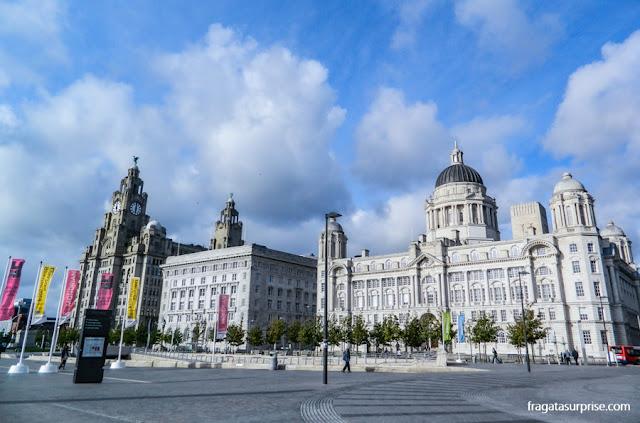 """""""As Três Graças"""", edifícios históricos de Liverpool"""